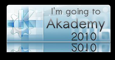 I'm going to Akademy logo