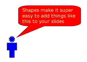 Shapes in KPresenter