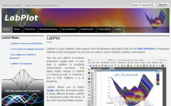 Screenshot of the LabPlot website