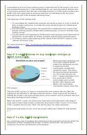 Screenshot of the first newsletter from the ALERT Project