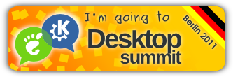 "Banner reading ""I'm going to the Desktop Summit"""